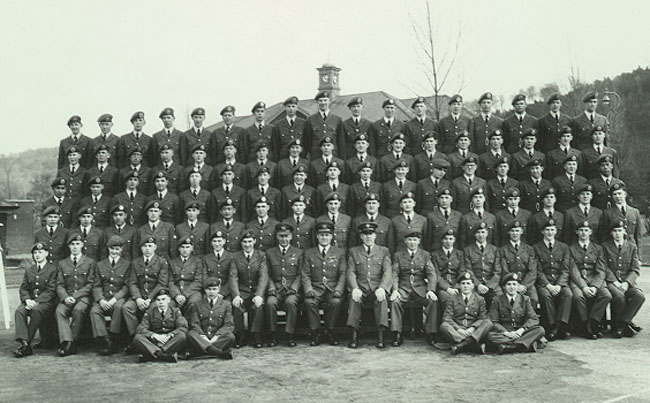 Group picture of B Flight, 103rd Entry RAF Halton, 1963 to 1965